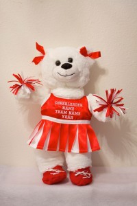 Cherrie Cheerleader Bear in Red