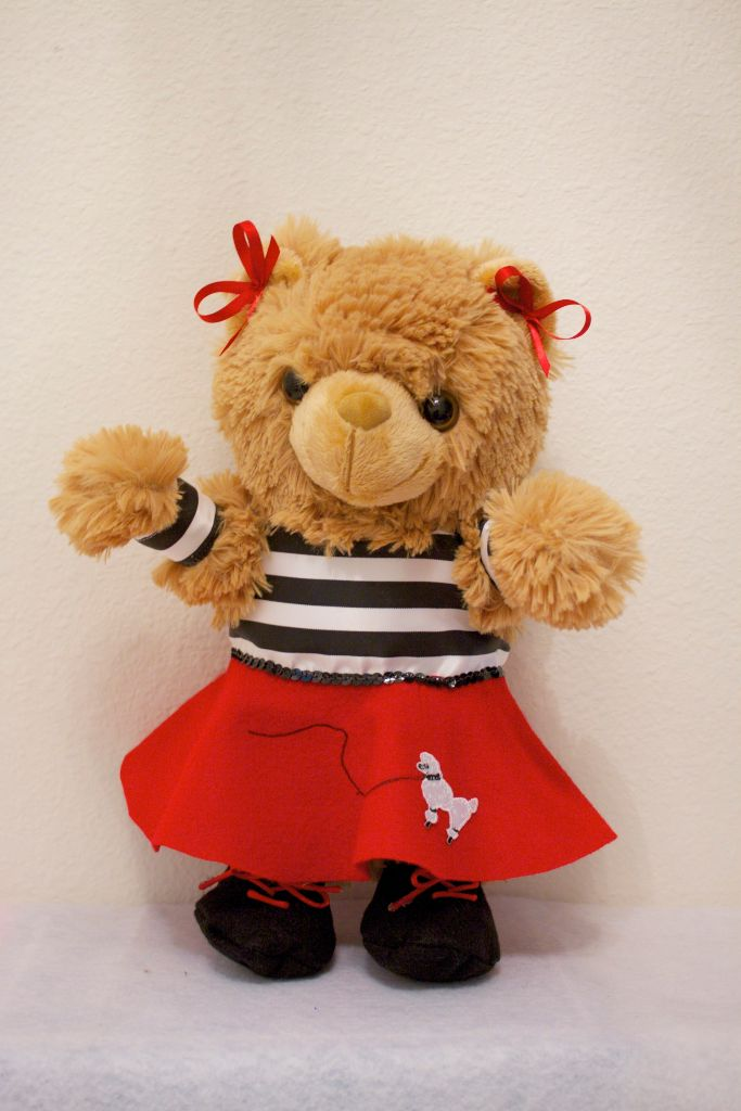 Peggy Poodle Bear in Red