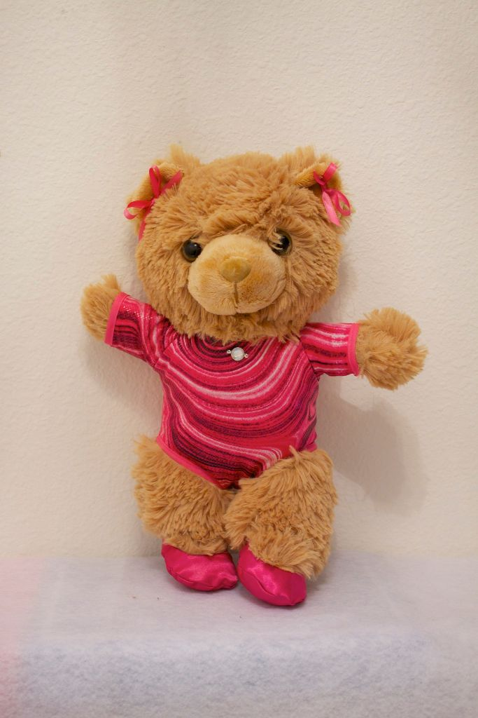 Gemma Gymnastics Bear in Hot Pink
