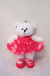 NINA BALLERINA BEAR HOT PINK