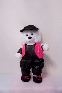 Harry and Hannah Hip Hop Bears Black & Hot Pink