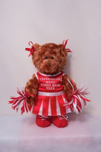 CHERRIE CHEERLEADER BEARS Red